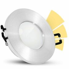 """fourSTEP LED Einbauspot Bad IP65  """"Dimmen ohne Dimmer"""" warmweiß GU10 5W Alu rund"""
