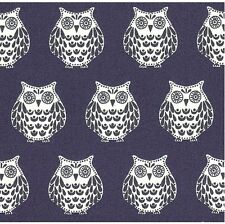 Papillon - Hoot Owl Rows - Slate Blue - 100% cotton Fabric
