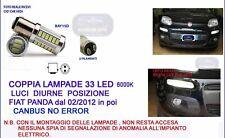 COPPIA LAMPADE LED DIURNE POSIZIONI FIAT PANDA dal 02/2012 in poi CANBUS  P21/5W