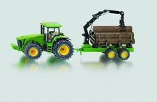SIKU John Deere Tractor With Forestry Trailer - 1 50