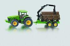 SIKU John Deere With Forestry Trailer 1 50 Scale