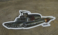 1960 CADILLAC HEARSE SCI-FI STICKER KEITH WEESNER ART DECAL GRIM REAPER DEATH 61