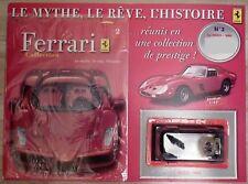 MINIATURE ENZO FERRARI 2002 noire1/43 Editions FABBRI n° 2 de 02/2008  ETAT NEUF