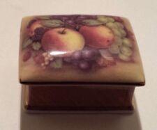 Ayshford OLD ORCHARD FRUIT Fine Bone China TRINKET BOX Staffordshire England