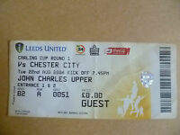 Ticket 2006 LEEDS UNITED v CHESTER CITY,22 August (Carling CUP 1st RD)