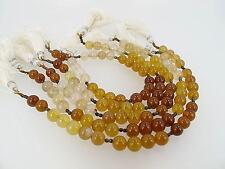 Hessonite chalcedony round beads 7.5mm