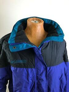 COLUMBIA SPORTSWEAR Full Zip & Snap Up Purple Snow Ski Jacket Women's Size Small