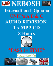 NEBOSH International Diploma Units A B & C Audio Revision Pack MP 3 CD 8 Hours