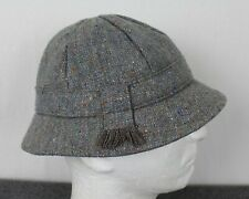 Vintage Donegal Tweed Woven In Ireland Wool Bucket Hat Gray Small