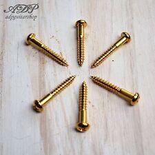 6 VIS pour VINTAGE TREMOLO STRAT SCREWS 3.5x25mm GOLD GS 0004-002