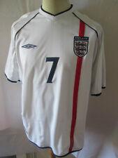 England Beckham 7 2001-2003 Home Football Shirt Size XL /34560