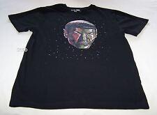 Star Trek Spock Mens Black Cotton Printed T Shirt Size M New