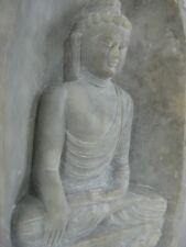 "Stone Buddha ~ 6.25"" Hand carved unique statue, Sakyamuni"