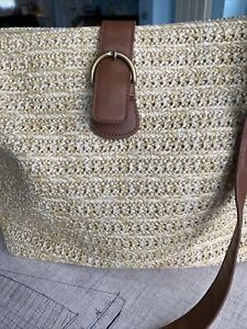 Lovely Straw Large Shoulder/Cross Body Beach Handbag