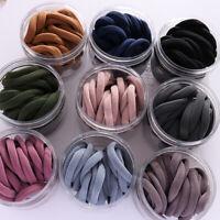 50Pcs/Kit Women Girls Hair Band Ties Rope Ring Elastic Hairband Ponytail Holder