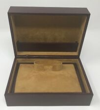 Brown Leather WATCH Display Holder CASE BOX Jewelry Storage Made for ROLEX Omega