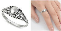 Sterling Silver 925 PRETTY OVAL DESIGN SILVER BAND RING 7MM SIZES 5-10