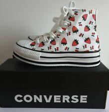 Girls Junior Platform Strawberry Eva Hi Converse Size UK 12, EUR 30, US 12.5
