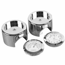 "7/8"" 1"" Handlebar Clock Thermometer Fit Kawasaki Vulcan VN 900 1500 1600 1700"