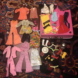 Vintage Barbie Clothes & Accessories Mattel 60s 70s And 1968 Case