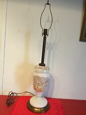 Antique Victorian Tall Hand Paint Colorful  Bristol Glas Table Lamp %45 OFF NOW