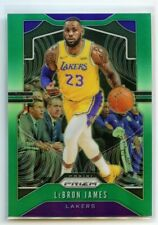 LEBRON JAMES 2019-20 PANINI PRIZM GREEN PRIZM SP #129 LOS ANGELES LAKERS