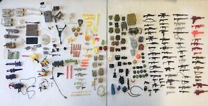 Vtg GI Joe Weapons, Helmets, Backpacks & Accessories Lot Hasbro #062