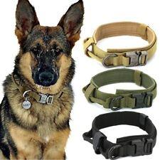 High Quality Tactical Dog Collar Adjustable Leash Control Handle Military Grade