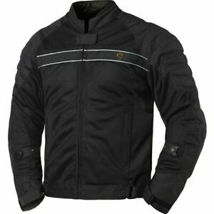 Black Mesh Motorcycle Jacket S M L XL XXL Unisex Adult Armored