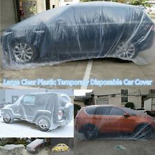 Large Plastic Temporary Disposable Car SUV Exterior Cover Rain Dust Snow Garage