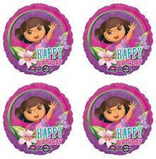 "4x Dora the Explorer Birthday Party Supplies 18"" inch Foil Mylar Balloon"