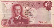 BILLET BANQUE LUXEMBOURG LUXEMBURG 100 FRANCS 1970 état voir scan 182