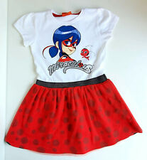 Ladybug Miraculous Kinder Mädchen Kleid Gr. 98/104 Sommerkleid Tunika kurzarm