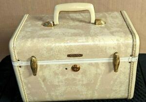 Samsonite Shwayder Bros Marble Makeup Train Travel / Makeup Case Luggage  * USA*