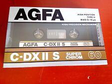 CASSETTE TAPE BLANK SEALED 1x (one) AGFA C-DX II S 60 [1987-89] Super Chrom