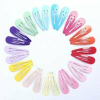 10/20pcs Snap Hair Clips for Hair Clip Pins BB Hairpin Color Metal Barrettes