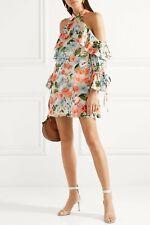 $465 Alice + Olivia Blayne Cold Shoulder Floral Chiffon Mini Dress Size S