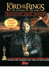 LORD OF THE RINGS RETURN OF THE KING UPDATE PROMOTIONAL SELL SHEET