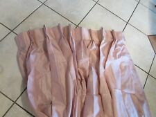 """Linden Street Pinch-Pleated Panel Pair 84"""" Length 144"""" Width Rose"""