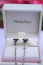 New! Disney Pandora Park Exclusive Mickey & Minnie Hearts Safety Chain