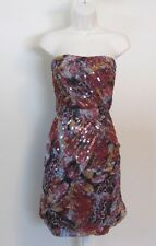 Diane von Furstenberg Garvin Embellished Khiva silk chiffon dress sequin 8 red