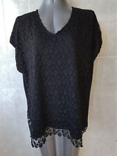 Millers Black Lace Top, Extended Sleeve, Round Neck, Plus Size 22 NWT