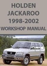 HOLDEN JACKAROO 1998-2002 WORKSHOP MANUAL