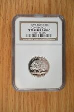 1999 S Silver Connecticut NGC PF 70 Ultra Cameo