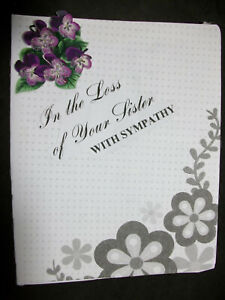 Sympathy Card for the Loss of Your Sister With a Verse inside