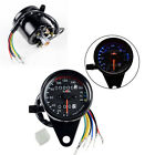 LED Backlight Signal Light Motorcycle Gauges Dual Odometer KMH Speedometer Gauge