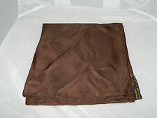 Vintage Italian 100% Silk Brown Handkerchief Scarf