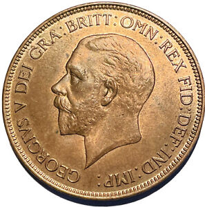1932 king George V Penny A Scarce Date & UNC With Lustre Lot 2