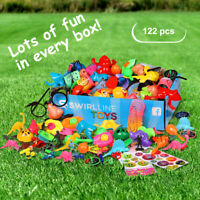 120pcs Party Favors for Kids - Carnival Prizes - Boys Girls Bulk Toys Assortment