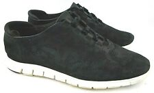 Cole Haan Grand Os ZeroGrand Womens 10 B Black Perforated Suede Leather Sneakers
